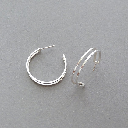 PARALLEL HOOP EARRINGS