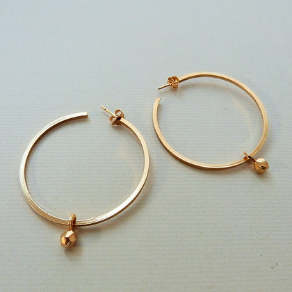 LARGE LUNA HOOP EARRINGS