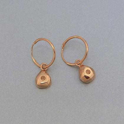 GOLD & CITRINE EARRINGS