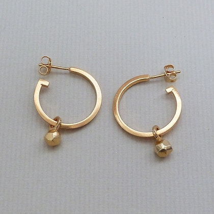 SMALL LUNA HOOP EARRINGS