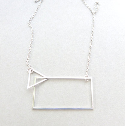 TRIANGLE/RECTANGLE NECKLACE