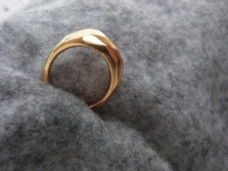 Handmade gold vermeil bubble ring