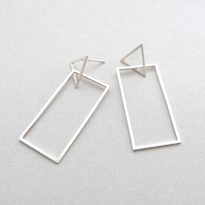TRIANGLE/RECTANGLE EARRINGS