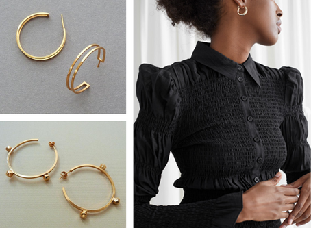 What jewellery should I wear with the power shoulder trend?
