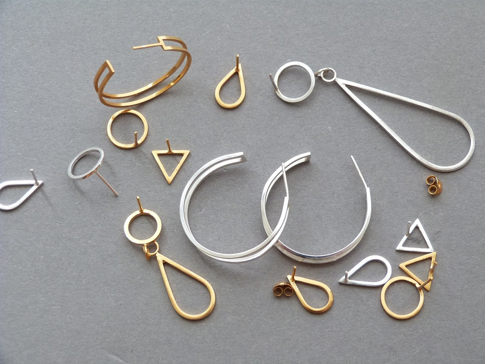 The Classics Edit earrings in silver and gold