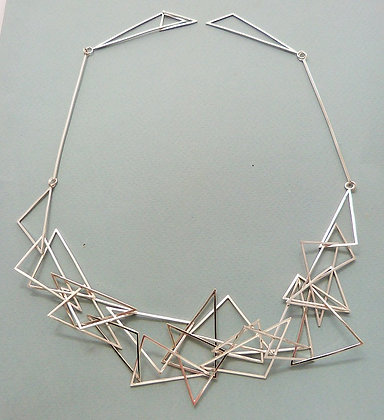 TRIANGLES STATEMENT NECKLACE