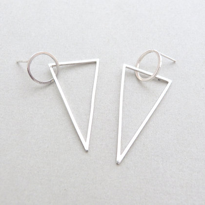 CIRCLE/TRIANGLE EARRINGS