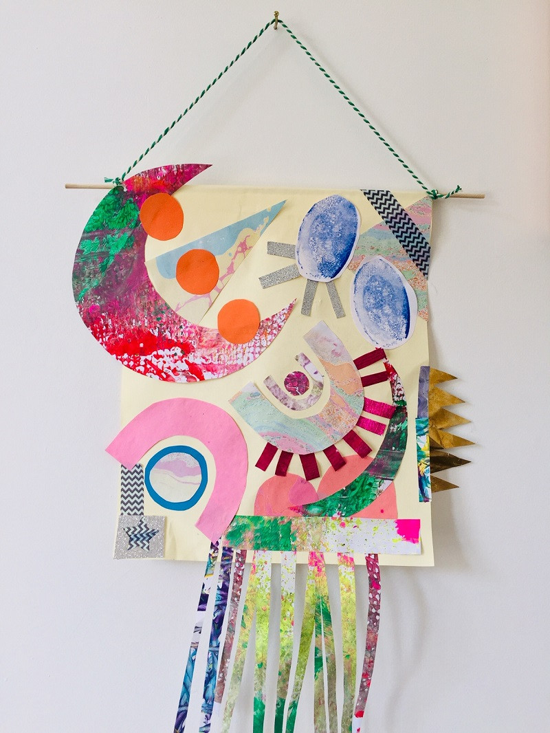 Colourful paper collage