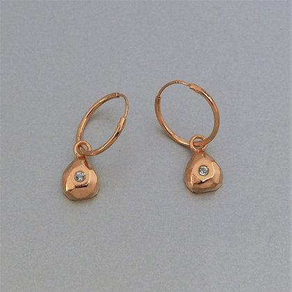 GOLD & AQUAMARINE EARRINGS
