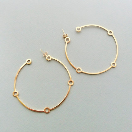 LARGE ATOMIC HOOP EARRINGS