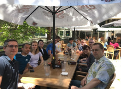 Patio Lunch with the Derksen Lab!