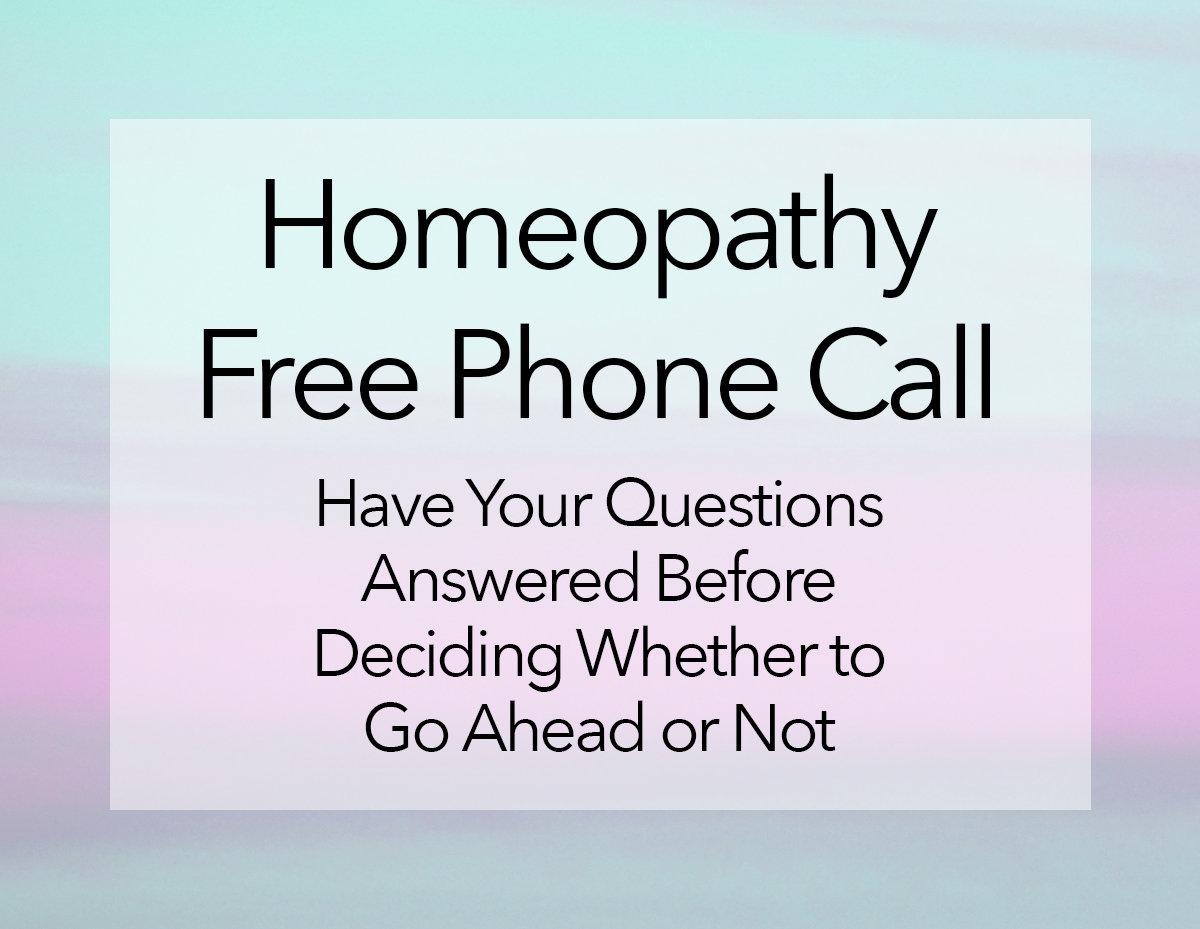 Homeopathy Free Phone Call
