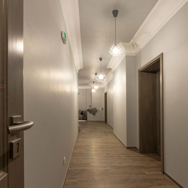 Chodba v 1. patře hotelu