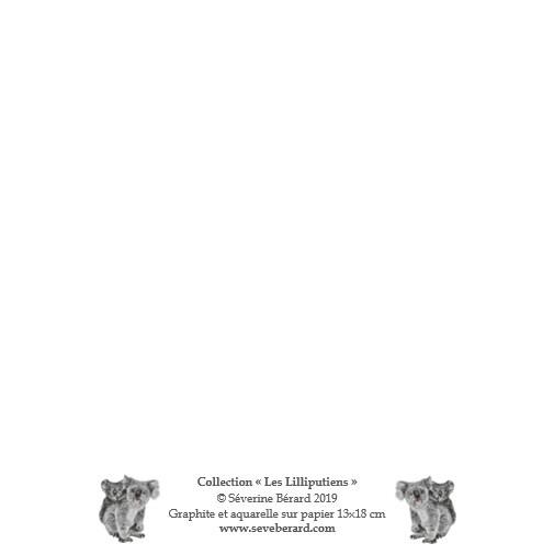 PETITS KOALAS - Dos de la carte