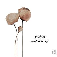 SINCERES CONDOLEANCES
