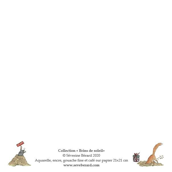 ANNIVERSAIRE AUX LANTERNES - Dos de la carte