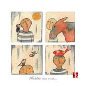 QUATUOR Soleil, âne, oiseaux & poisson