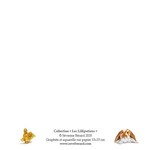 JOYEUSES PÂQUES - TRIO - Dos de la carte