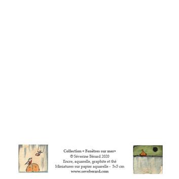 DUO BATEAU & OISEAUX - Dos de la carte