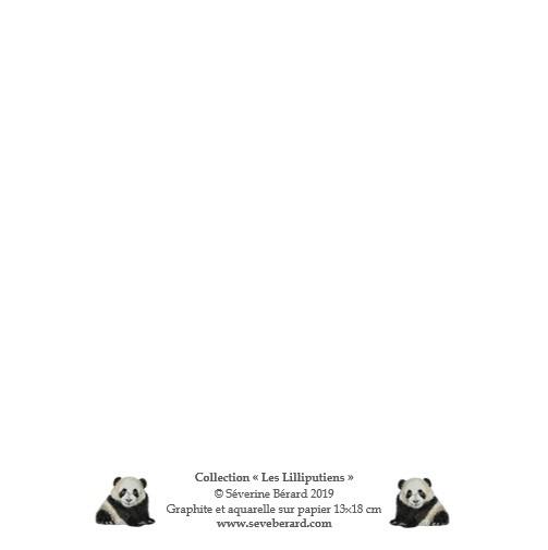 PETIT PANDA - Dos de la carte