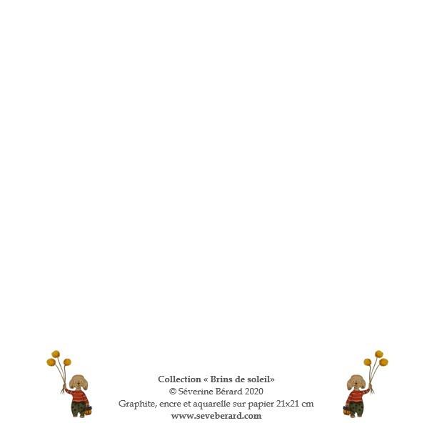 BOUQUETS - CADEAUX - Dos de la carte