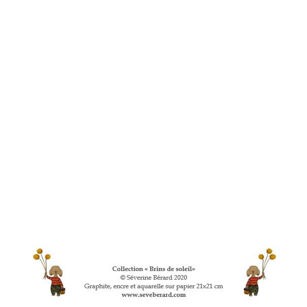 ANNIVERSAIRE CHAMPÊTRE - Dos de la carte