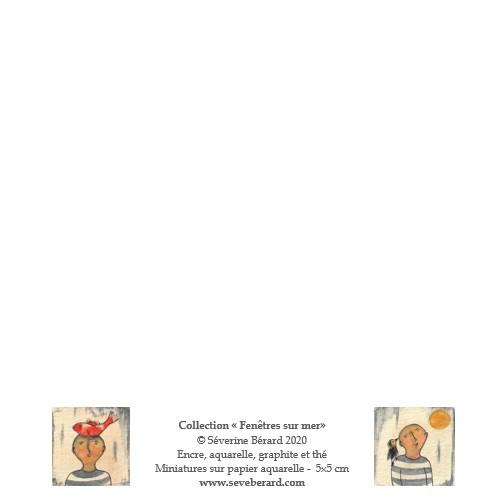 QUATUOR SOLEIL, POISSON, BATEAU & CAGE - Dos de la carte