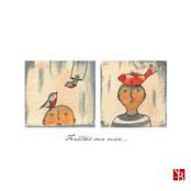 DUO Oiseaux & poisson