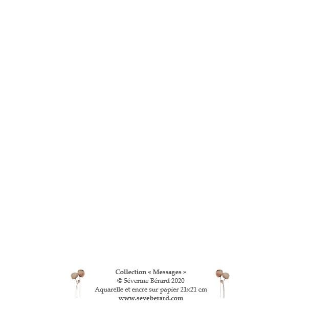 SINCERES CONDOLEANCES - Dos de la carte