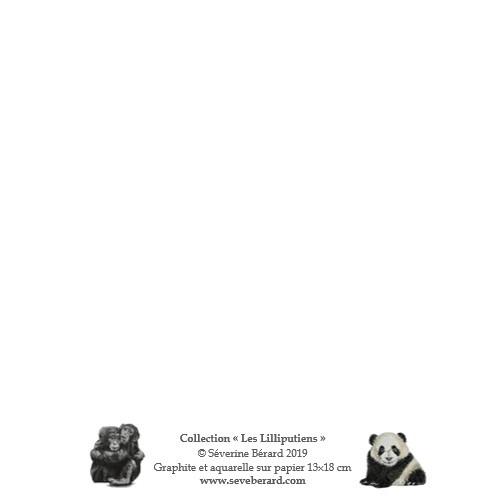 LES LILLIPUTIENS - Dos de la carte