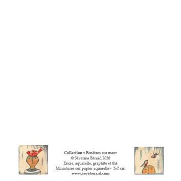 DUO OISEAUX & POISSON - Dos de la carte