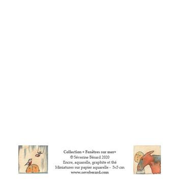 QUATUOR SOLEIL, ÂNE, OISEAUX & POISSON - Dos de la carte