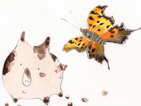 Pea and  butterfly