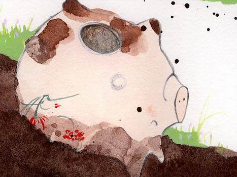 Pea rolls in mud