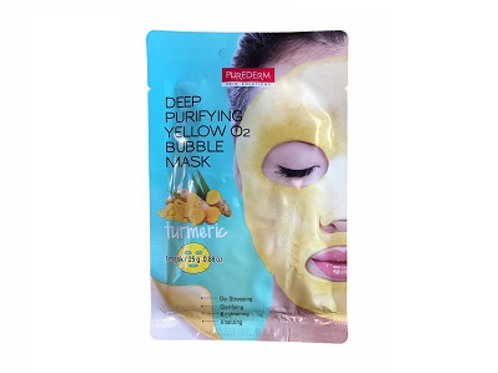 Deep Purifying Yellow O2 Bubble Mask Turmeric