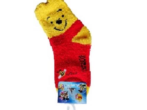 Kids Socks Pooh 6 To 8 Years Old 15603