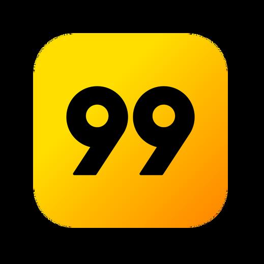 99 taxi logotipo para o site do creativo