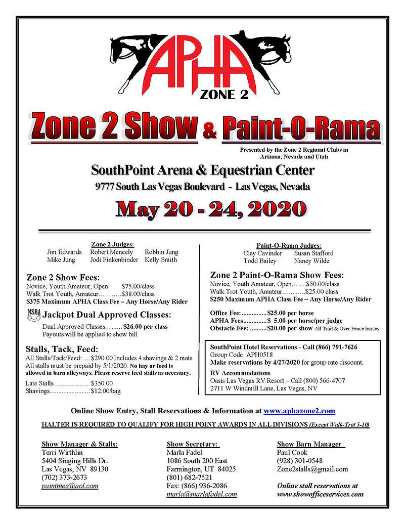 Zone 2 UPHC Showbill 2020.jpg