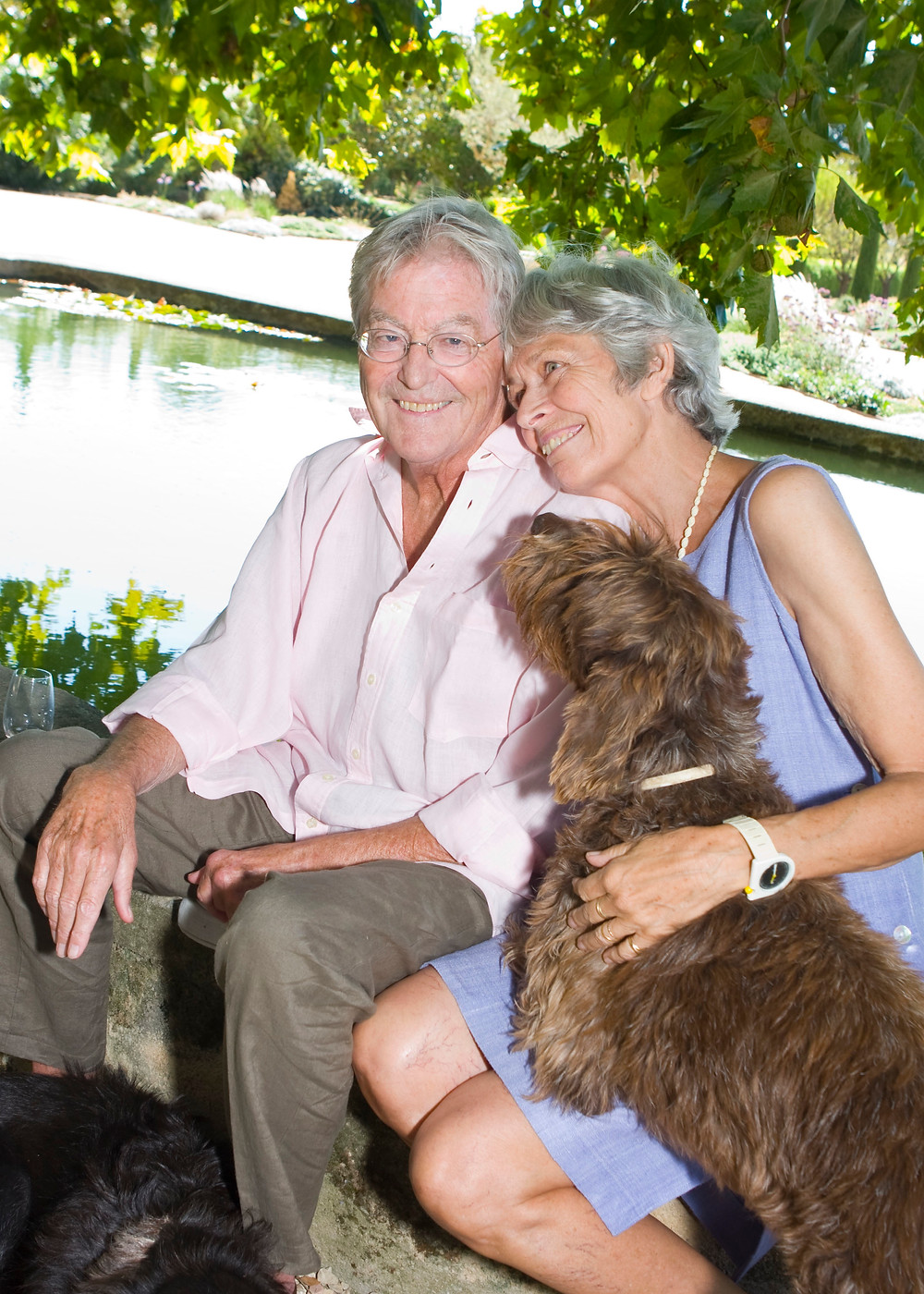 A couple in love, and their dog