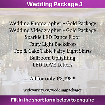 Wedding Package 3 - Wide Variety Events.