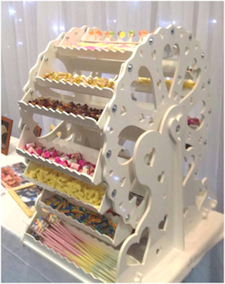 candy ferris wheel cart hire dublin ireland weddings private parties special events