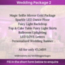 Wedding Package 2 - Wide Variety Events.