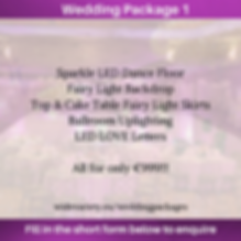 Wedding Package 1 - Wide Variety Events.
