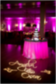 wedding monogram lighting service hire dublin ireland weddings private parties special events