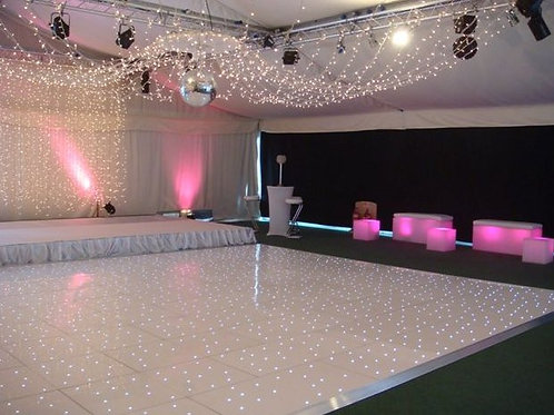 Sparkle LED Dance Floor Hire (White)