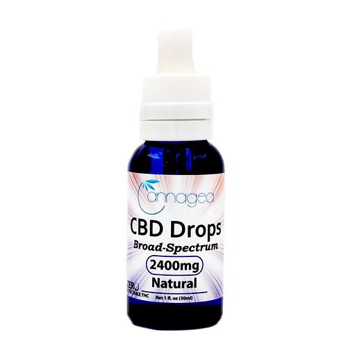 Cannagea 2400 mg CBD Tincture- Natural