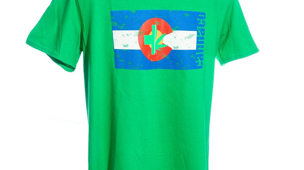 Colorado Flag T-Shirt with CannaCo logo