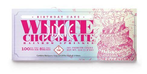 Dixie Elixir Birthday Cake Chocolate Bar 100 mg