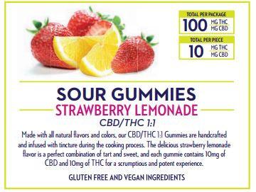 Wana Brands 1:1 Strawberry Lemonade Gummies