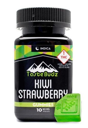 Tastebudz Kiwi Strawberry Indica 100mg Gummies